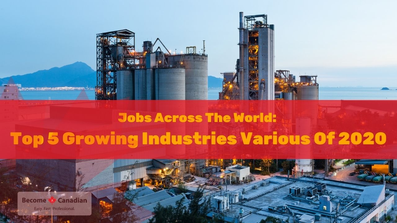 Jobs Across The World: World`s Top 5 Growing Industries Various Of 2020-2021